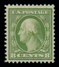 Stamps, (363) 1909, 8¢ olive green, bluish paper...