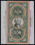 "Stamps, (R133) Documentary, 1871 Second Issue, $500 ""Persian Rug""..."