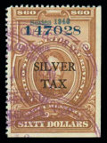 Stamps, (RG 56) Silver Tax, 1940, $60 brown...