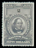 Stamps, (RG78) Silver Tax, 1941, $50 gray...