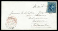Stamps, (7) Canada 1855, 10d blue...