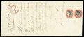 "Stamps, India Persian Field Force: 1857 (4 May) large ""On Publick Service Only"" envelope with contents relating to the Estate of Capt...."