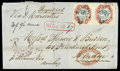 Stamps, India 1859 (3 May) registered folded lettersheet from Cochin to London (6.6)...