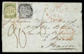 Stamps, New South Wales 1851 (May) folded letter from Kempsey to Paris, France (26.9), via London (25.9)...