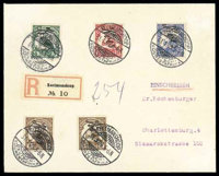 Koes: 1909 (31 Jan.) registered envelope to Charlottenburg (26.2)