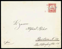 Koes: 1909 (27 Feb.) envelope to Berlin (27.3)