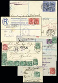 Stamps, 1916-1939 extensive collection of converted German cancellers...