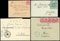 Stamps, 1916-1921 collection of railway station usages...