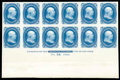 Stamps, (63P3) 1861, 1¢ blue, plate proof on India...