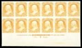 Stamps, (71P3) 1861, 30¢ orange, plate proof on India...