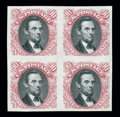 Stamps, (112P3-122P3) 1869, 1¢-90¢ Pictorial issue complete, plate proofs on India...
