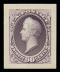 """Stamps, (212P2a-218P2a) 1887-88, 1¢ ultramarine - 90¢ purple, (""""Panama-Pacific"""") small die proofs..."""