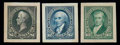 """Stamps, (247P2a-263P2a) 1894, 1¢-$5 First Bureau issue, """"Panama-Pacific"""" small die proofs..."""