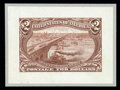 Stamps, (285P2-293P2) 1898, 1¢-2¢ Trans-Miss. set complete, small die proofs...