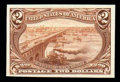 Stamps, (293P4) 1898, $2 Trans-Miss., plate proof on card...