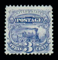 Stamps, (125) 1869 (1875 Re-issue), 3¢ blue...