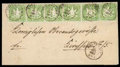 Stamps, Württemberg 1kr yellow green...