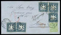 Stamps, (5) Württemberg 7kr slate blue (5) and 1869 1kr yellow green...