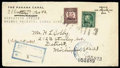 """Stamps, Canal Zone 1924, 12¢ brown violet, flat """"A""""..."""
