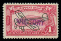 """Stamps, (C63) Philippines Airmail, 1944, 4c rose carmine, handstamped """"VICTORY""""..."""