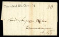 """Stamps, 1814 (Oct. 31) Cleaveland, Ohio to Canandaigua, N.Y., datelined folded letter bearing very fine strike of """"Cl..."""