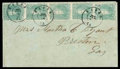 Stamps, (3) 1862, 2¢ green...