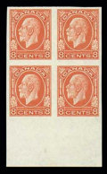 Stamps, (195c-200a) 1¢-8¢ George V imperforate...