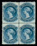Stamps, (10) 1860-63, 5¢ blue...