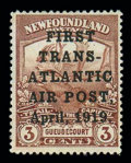Stamps, (C1) Airmail, 1919, 3¢ Hawker Flight...