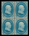 Stamps, (63) 1861, 1¢ blue...