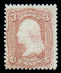 Stamps, (83) 1867, 3¢ rose, C. grill...