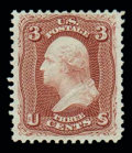Stamps, (104) 1875 Re-issue of 1861-67 issue, 3¢ brown red...