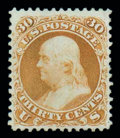 Stamps, (110) 1875 Re-issue of 1861-67 issue, 30¢ brownish orange...