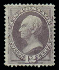 Stamps, (140) 1870, 12¢ dull violet, grilled...
