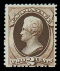 Stamps, (168) 1875 Special Printing, 2¢ dark brown...