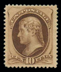 Stamps, (188) 1879, 10¢ brown, with secret mark...