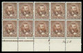 Stamps, (223) 1890, 5¢ chocolate...