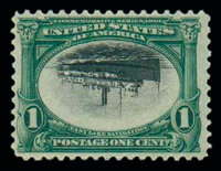 (294a) 1901, 1¢ Pan-American, center inverted