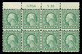 Stamps, (545) 1921, 1¢ green, rotary coil waste...