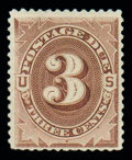 Stamps, (J10) Postage Due, 1879, 3¢ deep brown, Special Printing...