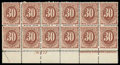 Stamps, (J20) Postage Due, 1884, 30¢ red brown...