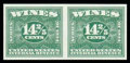 Stamps, (RE96A var.) 1940, 14-2/5¢ green imperforate...