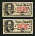 Fractional Currency:Fifth Issue, Two Fr. 1381 50¢ Fifth Issue Notes.. ... (Total: 2 notes)