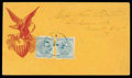 Stamps, (7) 1862, 5¢ blue, Archer & Daly printing...