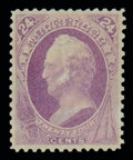 Stamps, (153) 1870, 24¢ purple...