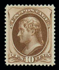 Stamps, (161) 1873, 10¢ brown...