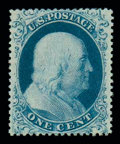 Stamps, (18) 1861, 1¢ blue, type I...