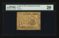 Colonial Notes:Continental Congress Issues, Continental Currency May 9, 1776 $1 PMG Very Fine 20.. ...