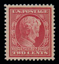 Stamps, (369) 1909, 2¢ Lincoln, bluish paper...