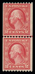 Stamps, (449) 1915, 2¢ red, type I, rotary coil...